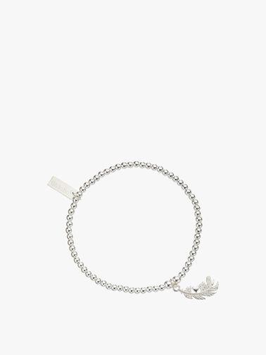 Cute Charm Heart Feather Bracelet
