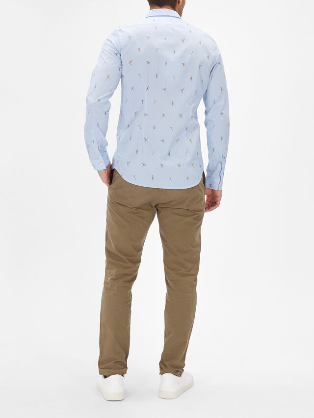Long Sleeve Slim Climb Allover Shirt