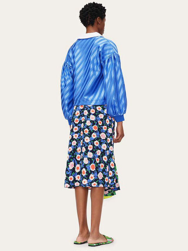 Lilah Textured Printed Skirt