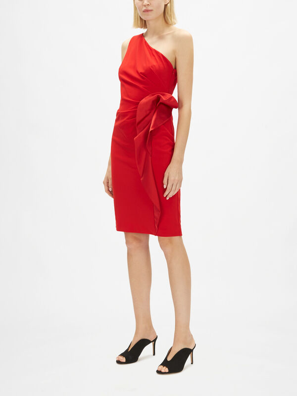 Erikana One Shoulder Evening Dress w/Ruffle Detail