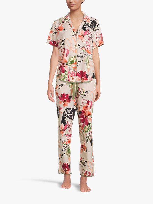 Natalie Peach Floral Print Top
