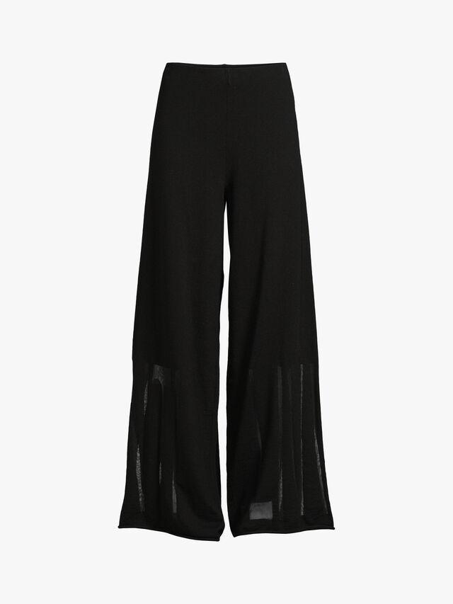 Sheer Detail Lounge Knit Trouser
