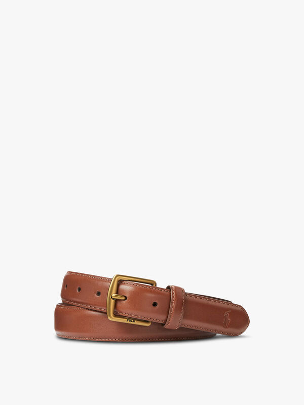 Smooth Leather Casual Belt