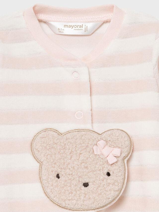 Teddy Face Velour babygrow