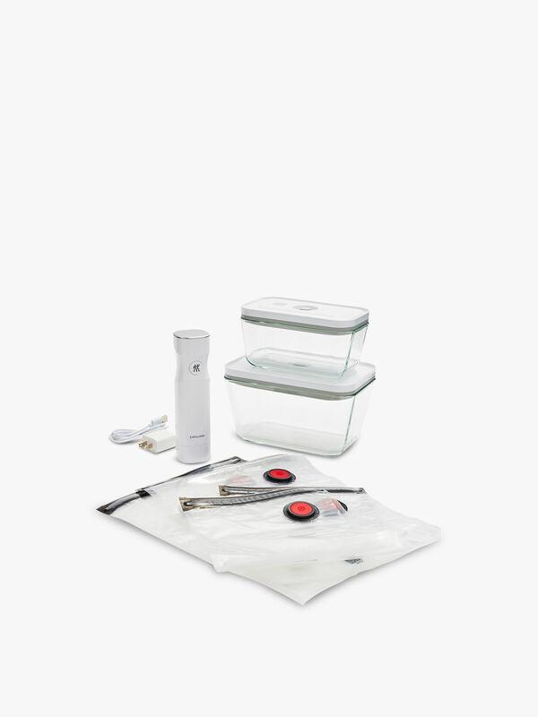 7 Piece Glass Vacuum Food Storage Starter Set