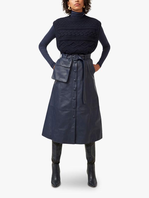 Fallyn Leather Pocket Skirt