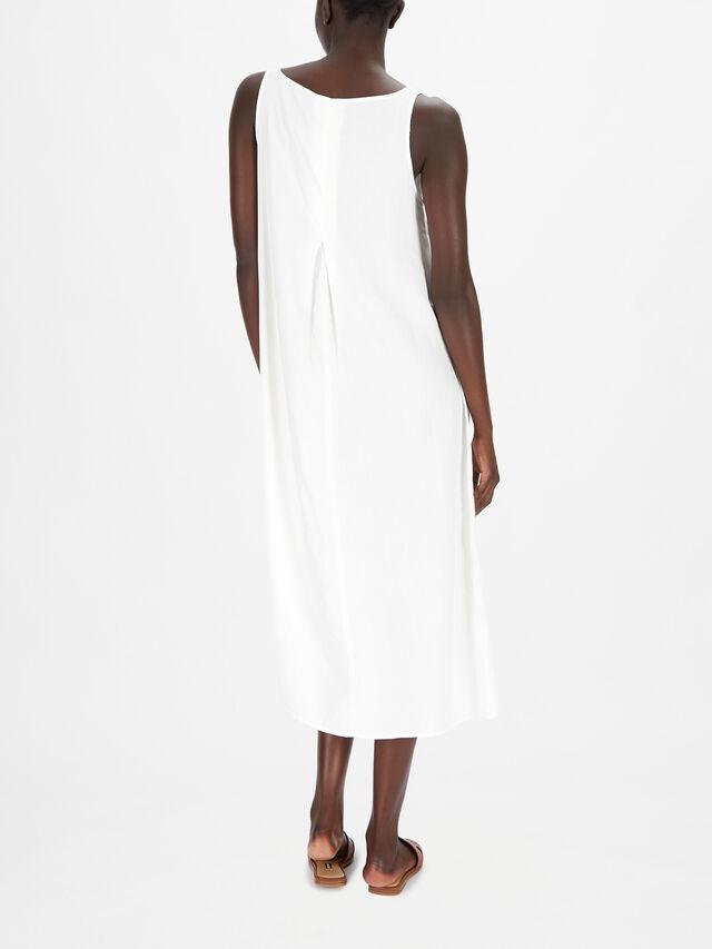 Sleeveless Abstract Print Maxi Dress