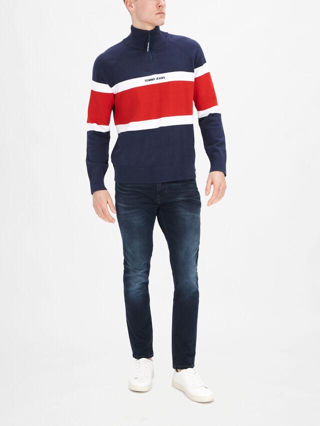 Colourblock Half Zip Sweatshirt