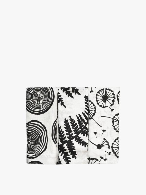 Plant Print Muslins 3 Pack