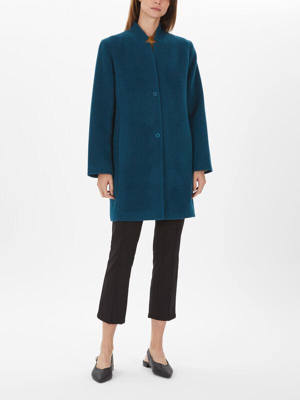 Notch Collar Long Coat