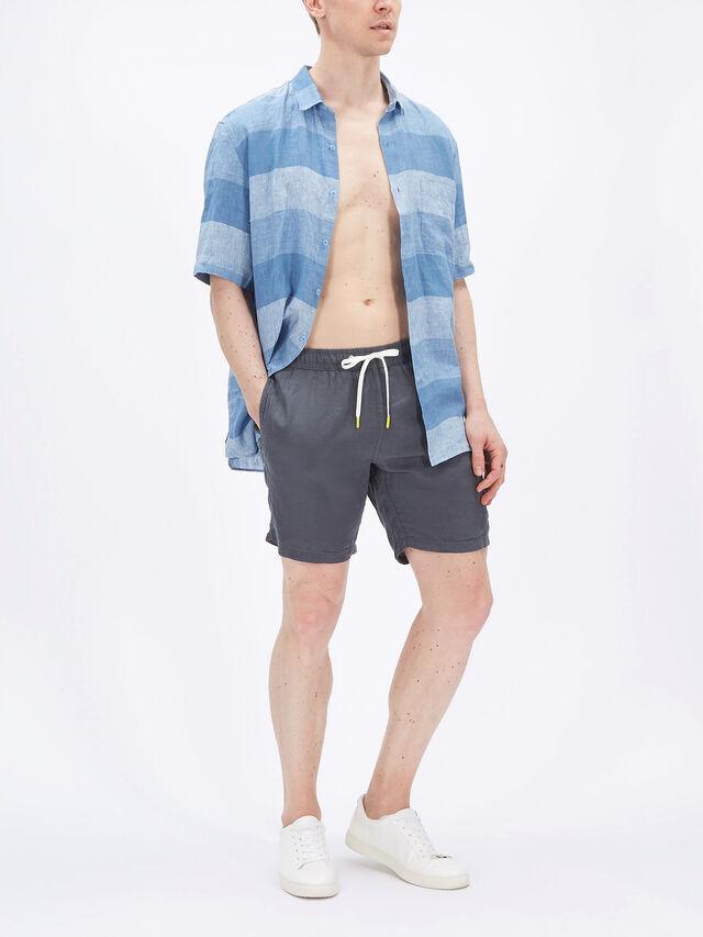 Linen Swim Shorts