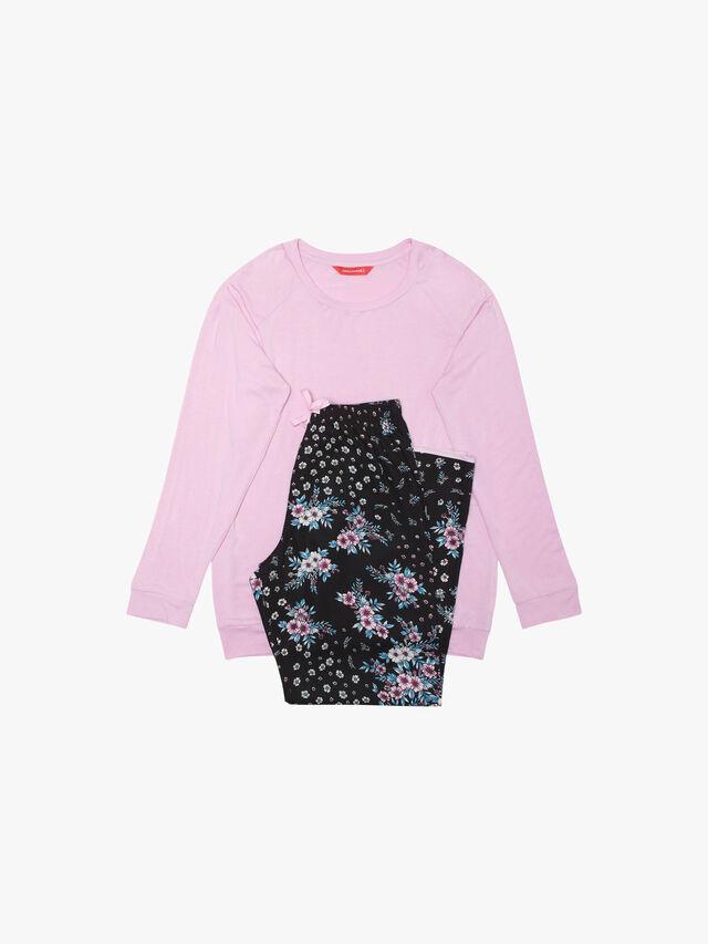 Hannah Jersey Top and Ditsy Print Pyjamas