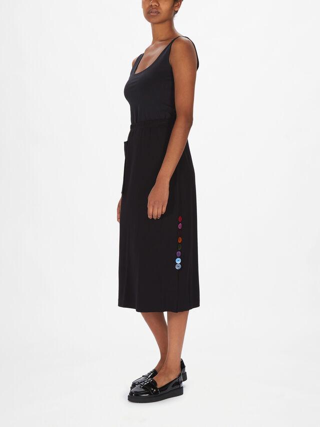 Effie Ponte Button Detail Pencil Skirt