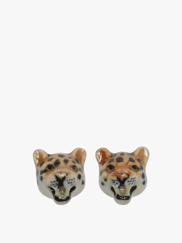 Leopard Stud Earrings