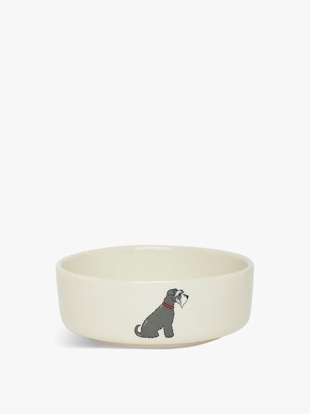 Small Schnauzer Dog Bowl
