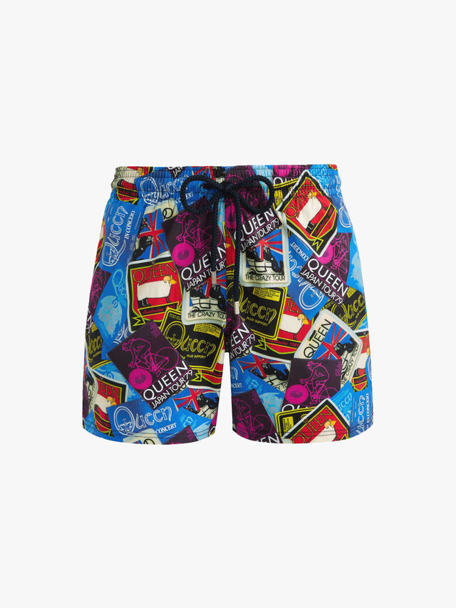 Moorise Queen Ticket Print Swim Shorts