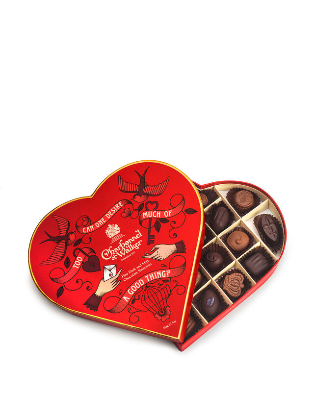 Milk and Dark Selection Red Heart