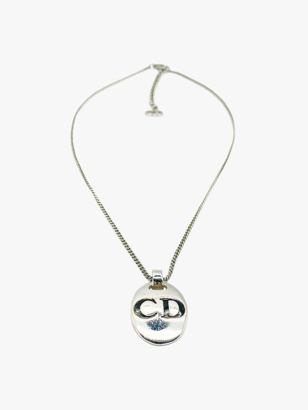 Vintage Dior Reversible Initial Pendant Necklace