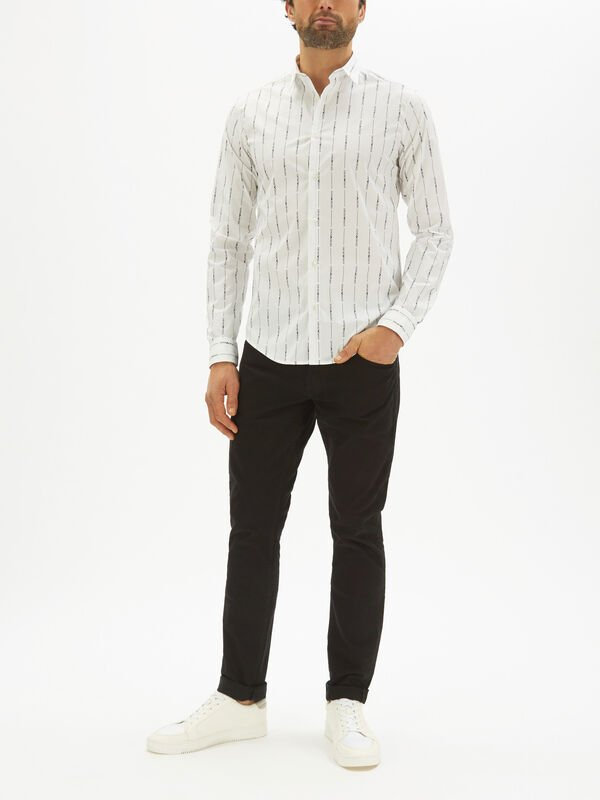 Running Logo Wide Stripe Shirt