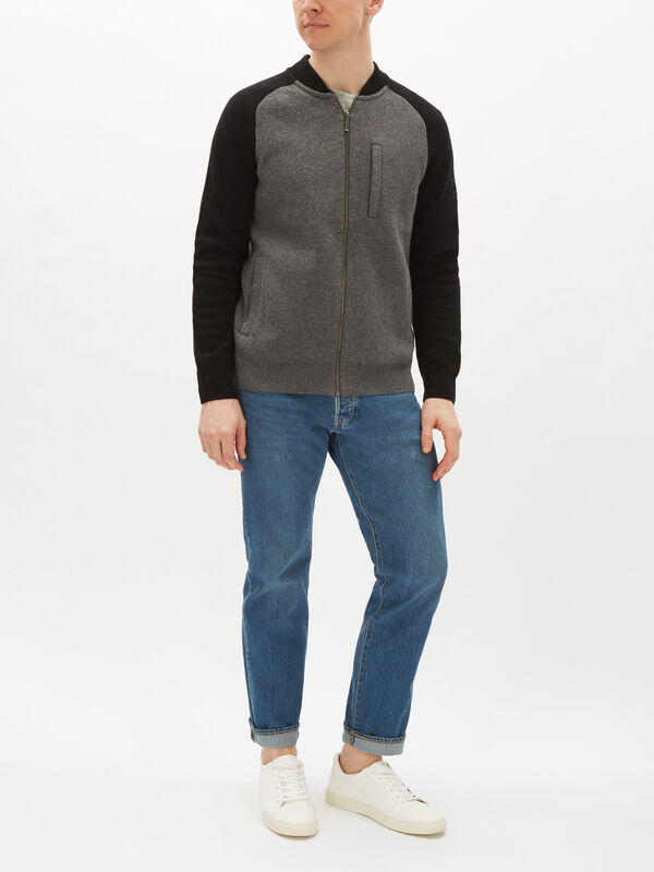 Plated Zip Thru Sweatshirt