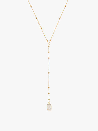 Rainbow Moonstone Lena Lariat Necklace