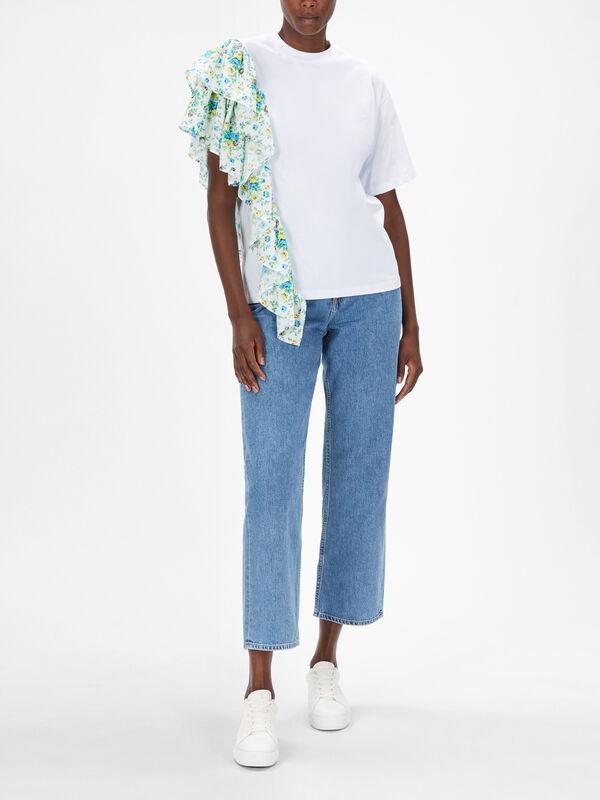 Asymmetrical Ruffle T-Shirt