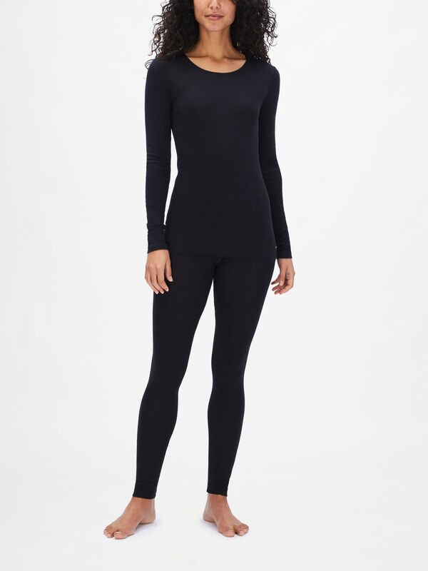 Cotton Seamless Long Sleeve Shirt