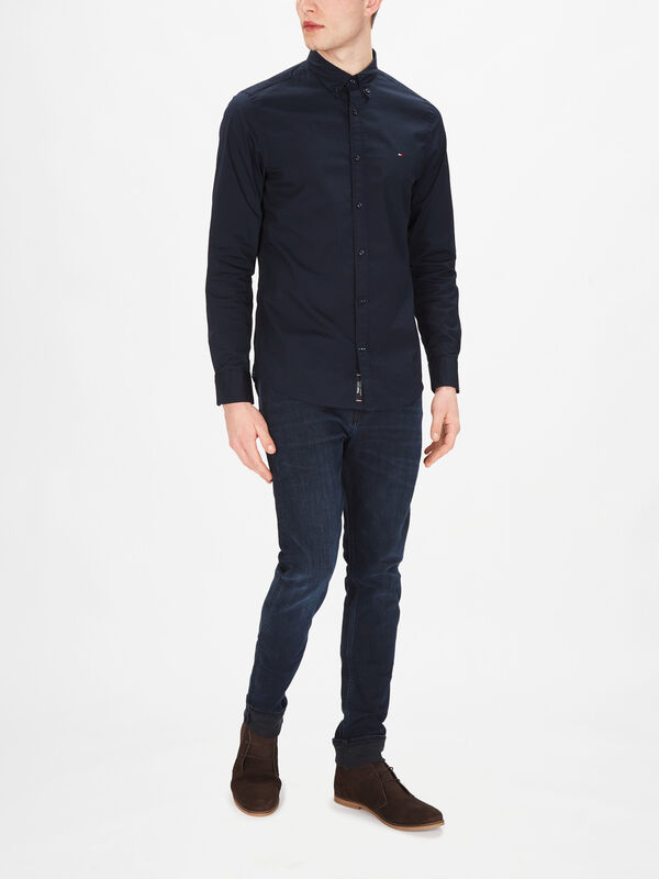 Strech Slim Fit Poplin Shirt