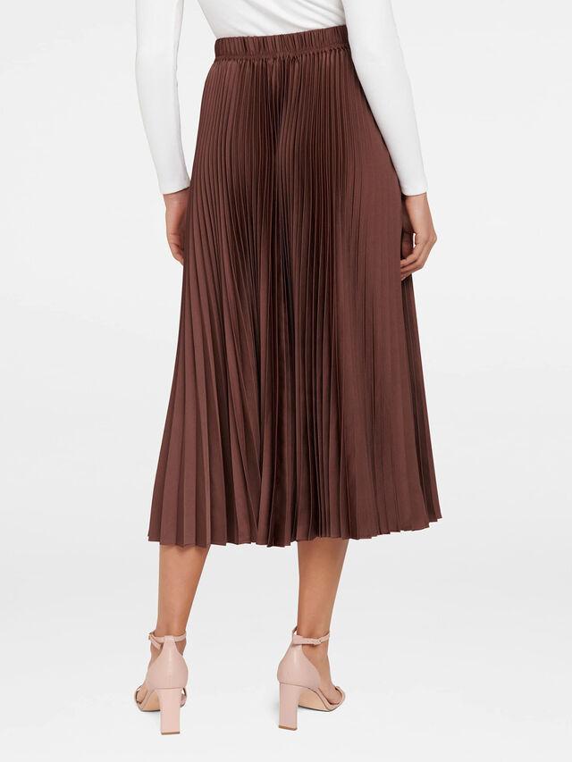 Ester Satin Pleated Skirt