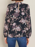 Sally Trim Spliced Printed Blouse