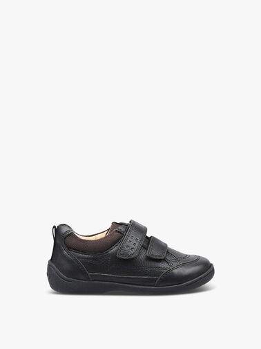 Zigzag-Black-Leather-Pre-School-Shoes-1483-7
