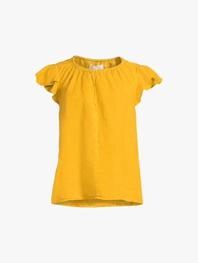 Irene Frilled Sleeve Top