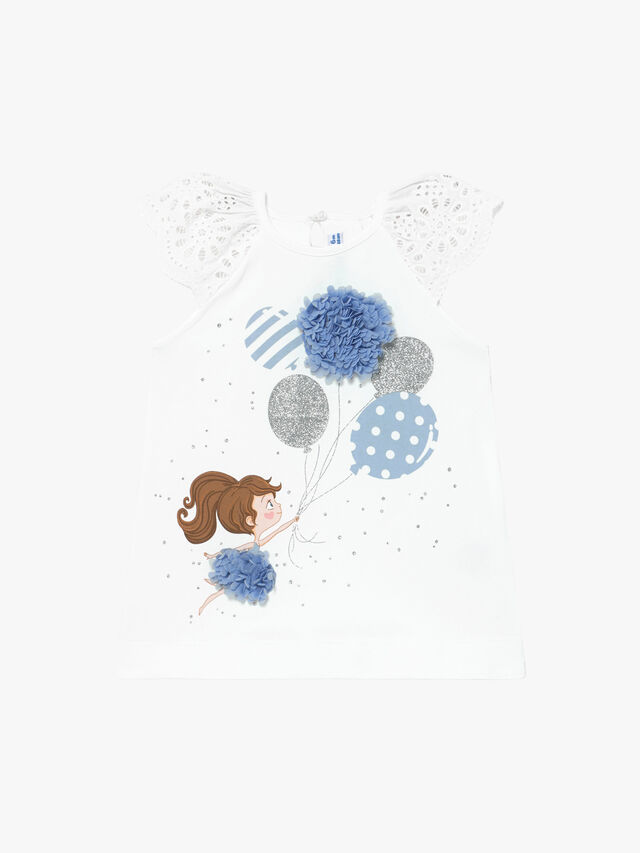 Girl & Balloon Print Dress