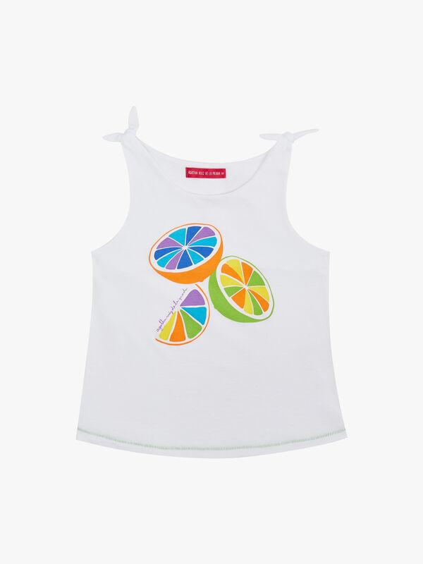 Fruit Print Vest Top