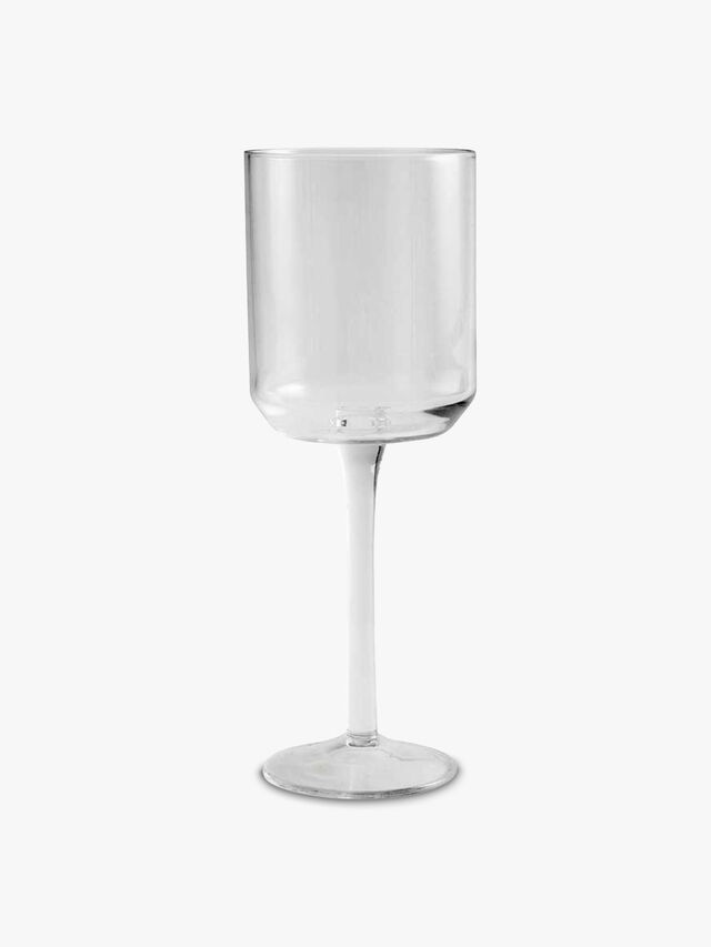 Retro Red Wine Glass