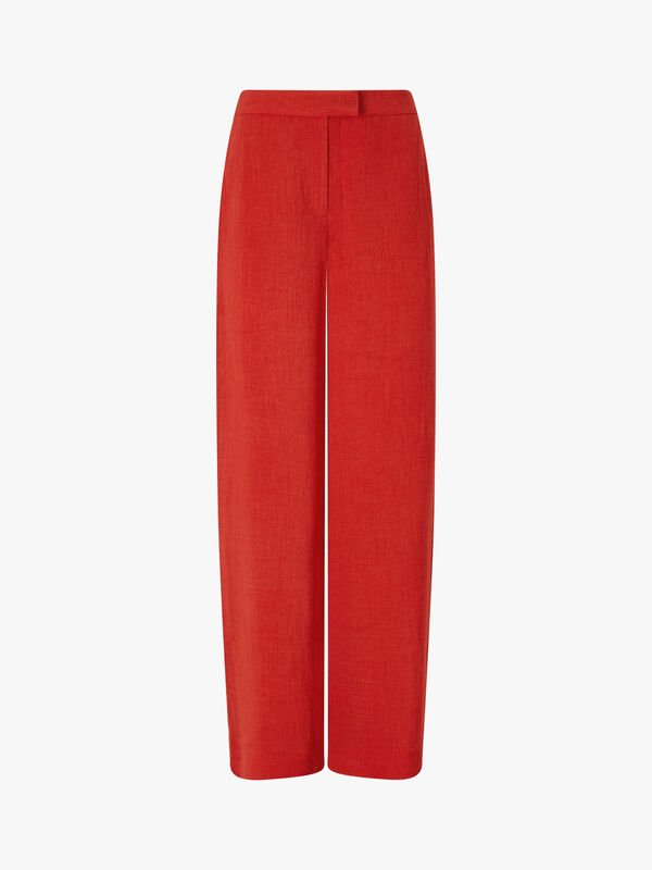 Wide Leg Trouser With Contrast Piping