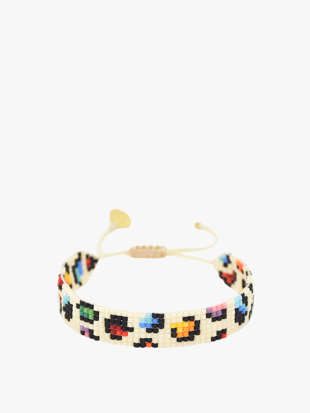 Rainbow Panther Beaded Bracelet