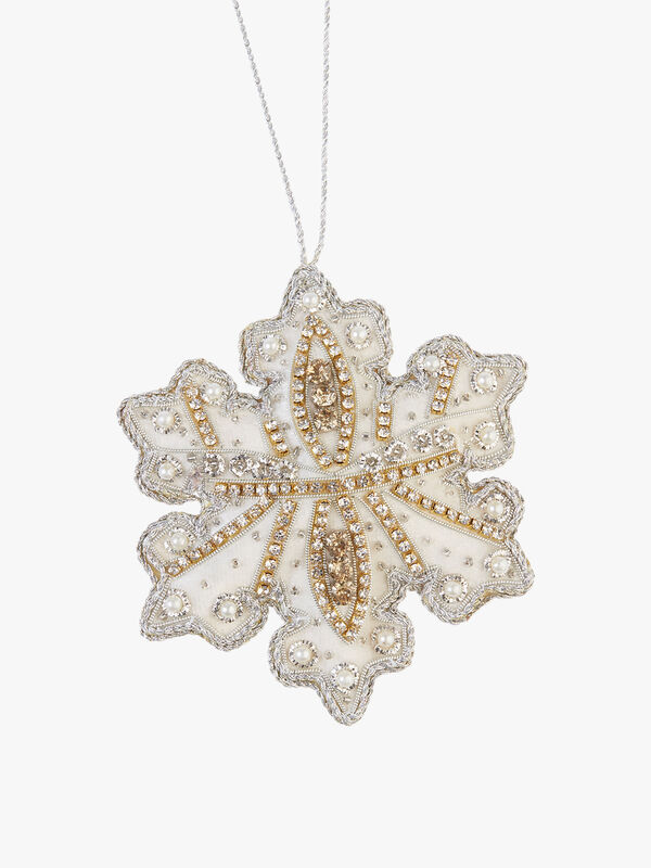 Champagne Crystals Snowflake Decoration