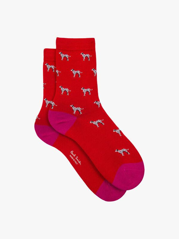 Dalmatian Sock