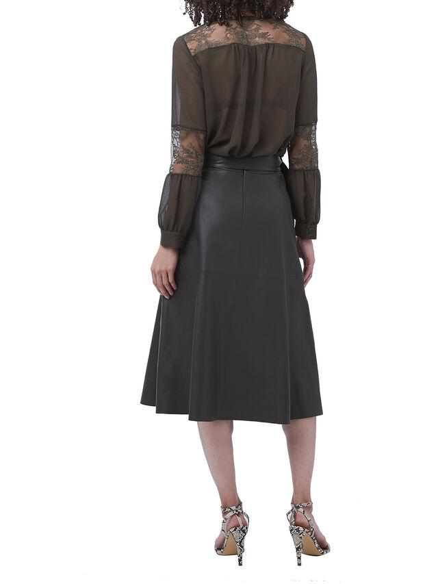 Arlan Leather Midi Skirt