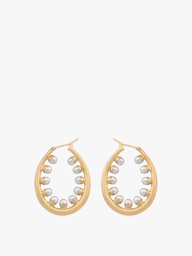 Small Oval Pearl Earrings