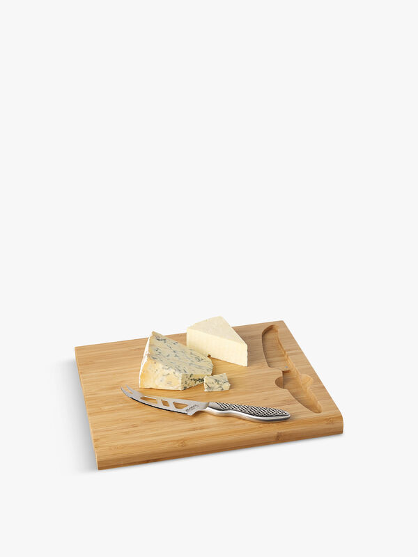 Cheese Board with Cheese Knife