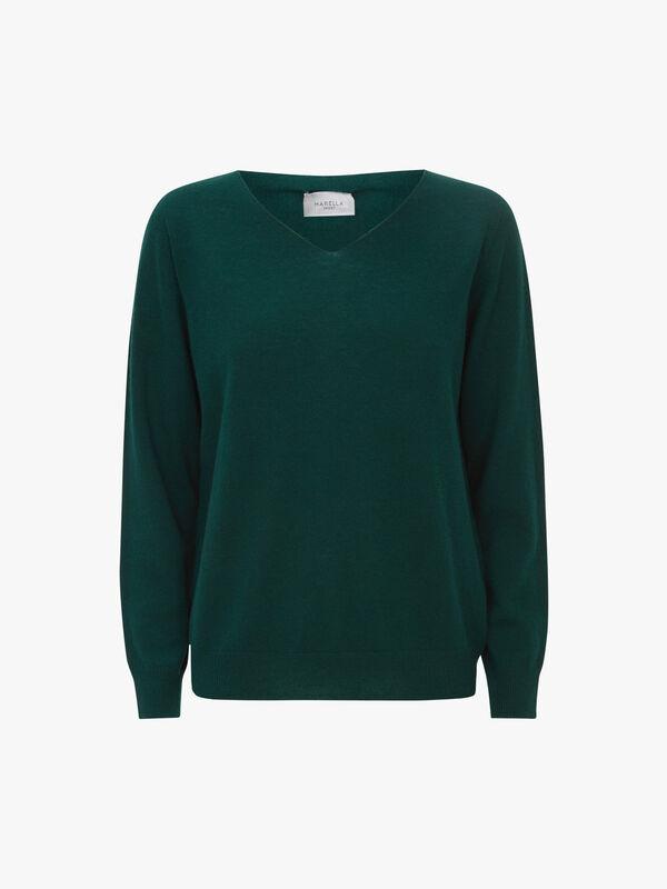 Estroso V-Neck Fine Knit