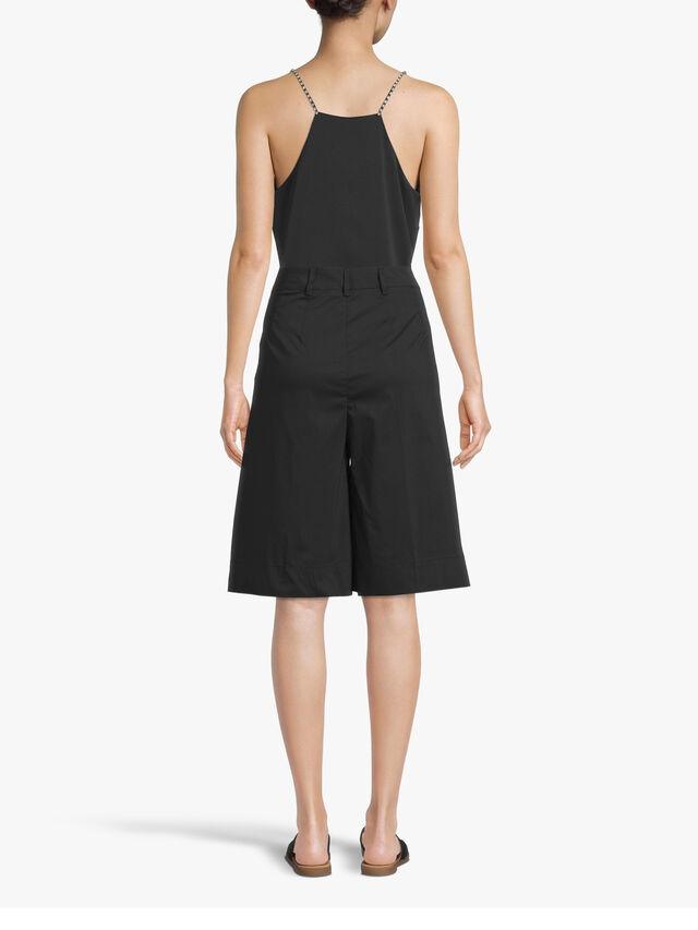 Knee Length Wide Leg Cotton Shorts