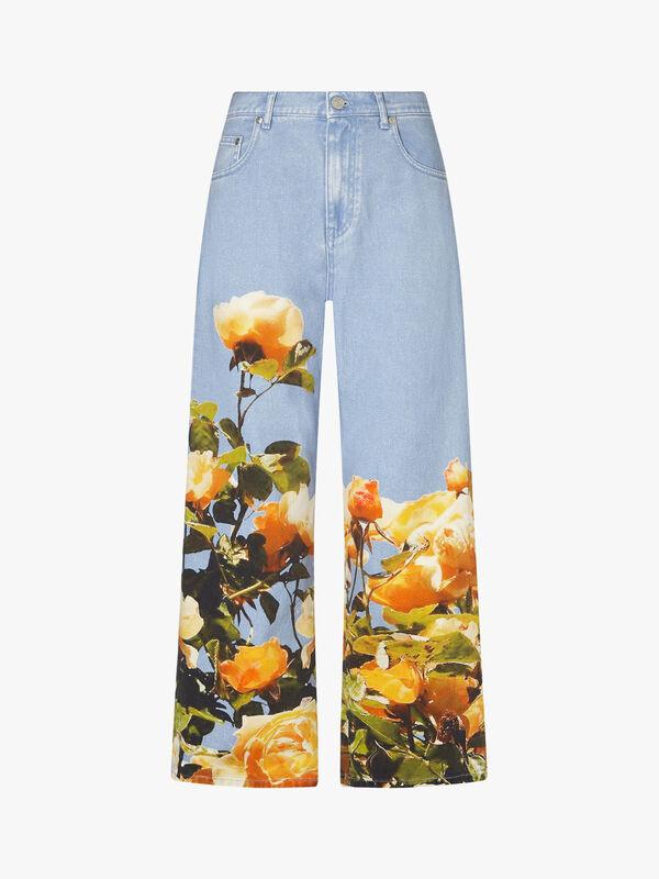 Floral Hem Trouser