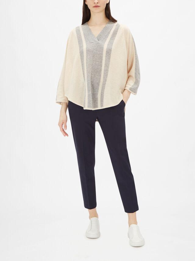 Femke V Neck Striped Wool Knit