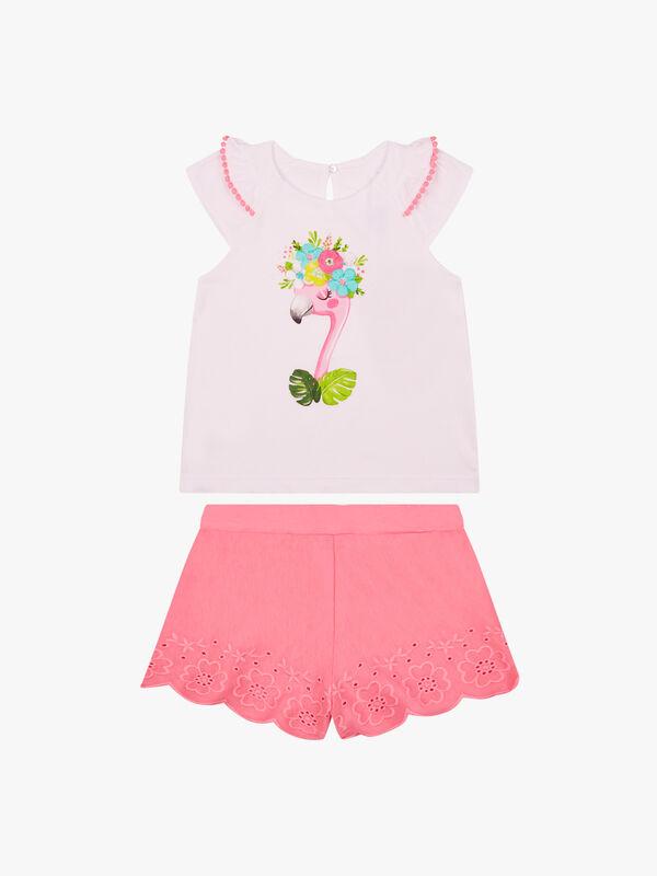 Flamingo Shorts Set