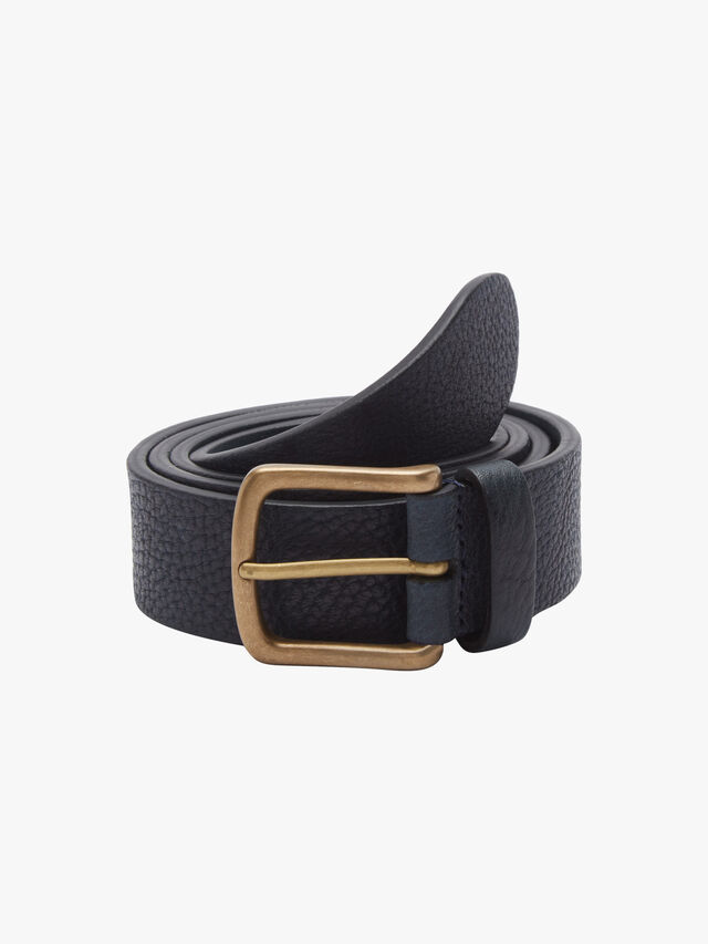 Leather English Brass Buckle