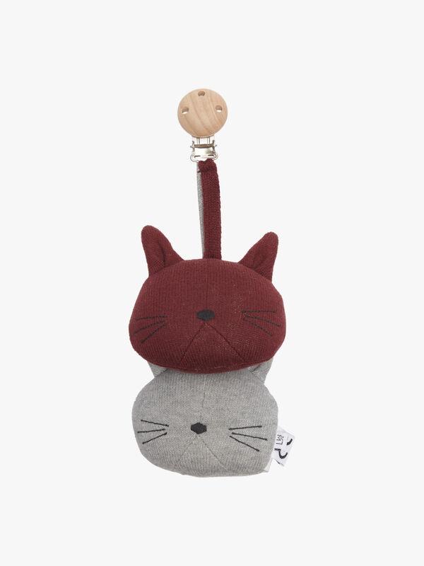 Knitted Pram Toy Cat