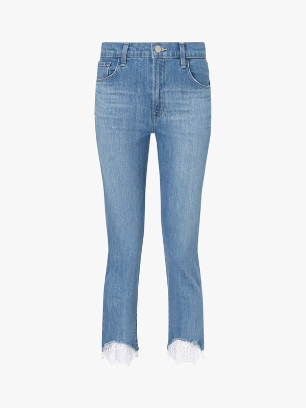 Ruby High-Rise Lace Jeans
